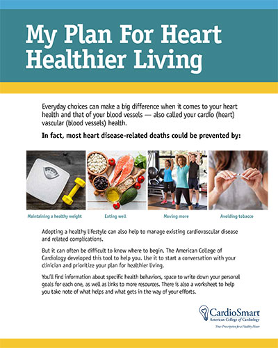 My Plan for Heart Healthier Living