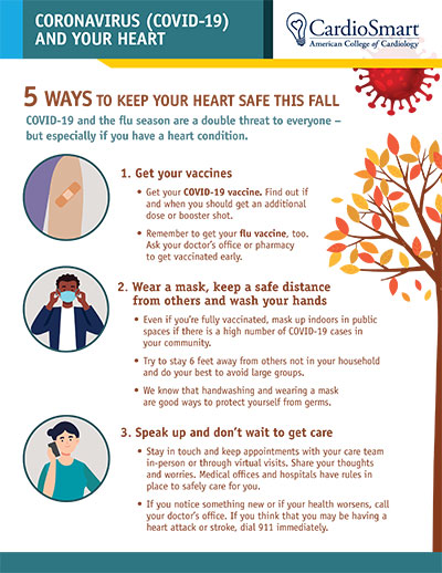 Coronavirus and Your Heart: 5 Ways to Keep Your Heart Safe This Fall