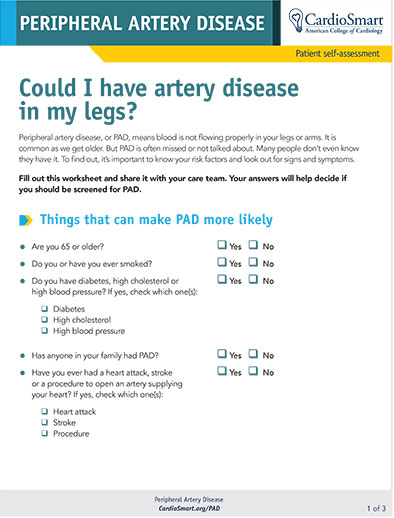 Could I Have Artery Disease in My Legs?